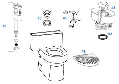 Toto Plumbing Parts by Toto Ryohan Toilet Replacement Parts