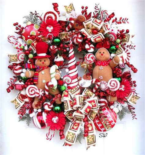 christmas wreath gingerbread wreath candy wreath bright