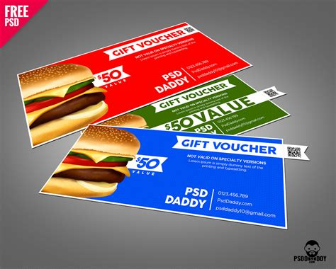 discount card template psd food discount voucher free psd psddaddy