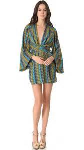 kimona dress issa sleeve kimono dress in green lyst