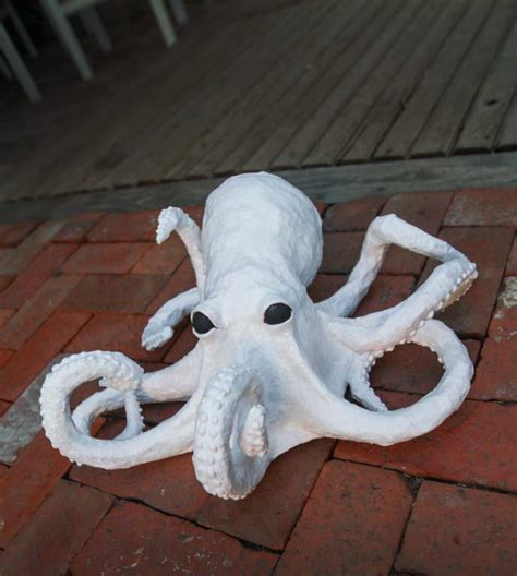 What To Make Out Of Paper Mache - creepy paper mache octopus craft tutorial