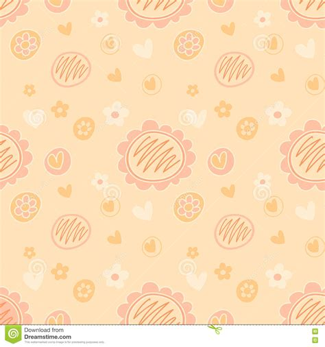 pastel peach pattern vector lovely feminine floral background pattern in peach