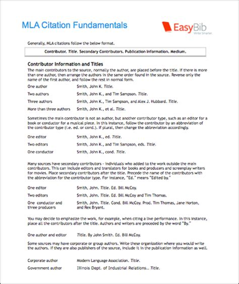 mla format of ebook mla citation e book