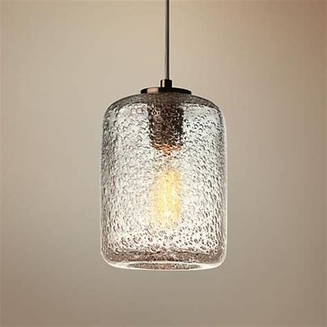 seeded glass vanity light potrero clear seeded glass 6 quot wide mini pendant minis
