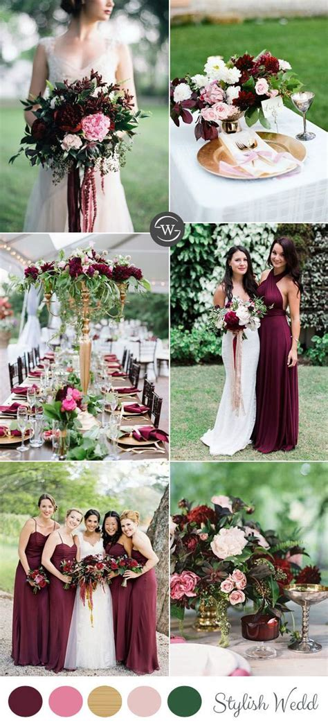 wedding color combinations wedding trends 10 fantastic burgundy color combos for