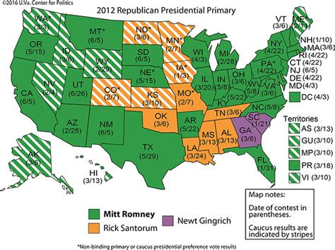 Us Delegates By State The Modern History Of The Republican Presidential Primary