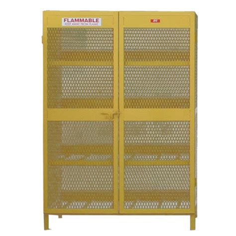 horizontal propane tank storage cabinet