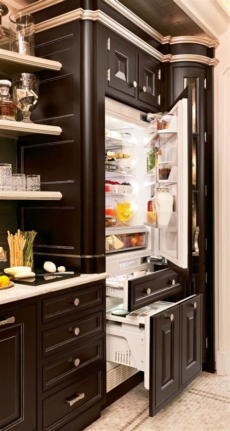 fridge that looks like cabinets built in cabinet with custom fridge for the house