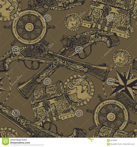 pattern for pirates pirate seamless pattern stock vector image 69746926
