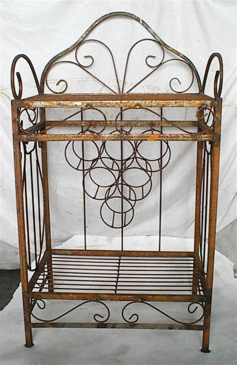 Wrought Iron Bakers Rack With Wine Rack 17 Best Ideas About Wrought Iron Wine Racks On Pinterest