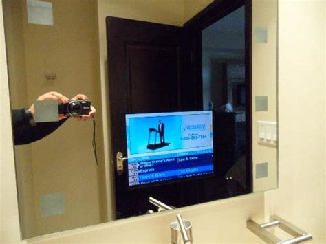 tv in mirror bathroom tv in the bathroom mirror picture of copper point resort