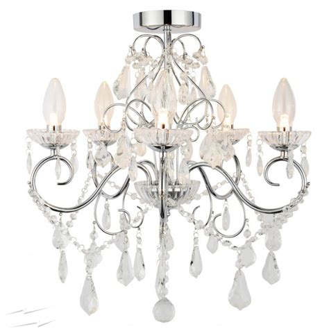 fex500 ip44 5 light bathroom chandelier in chrome with