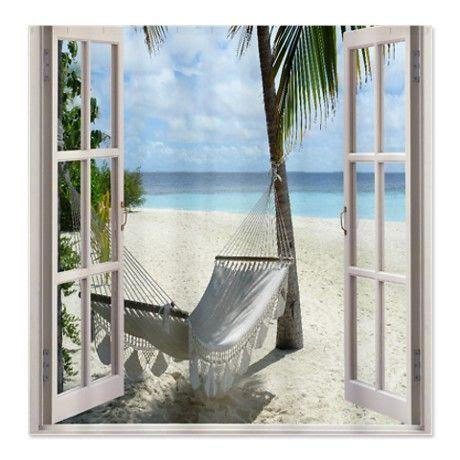 beach window curtains beach window shower curtain showercurtains pinterest