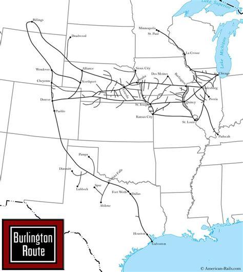 burlington texas map the chicago burlington and quincy railroad way of the zephyrs railroad maps