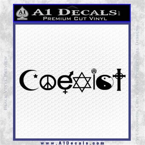 Coexist Vinyl Sticker