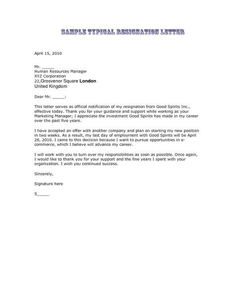 resignstion letter resignation letter sample resignation letter best