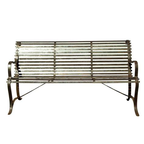 wrought iron garden bench seat wrought iron slat garden bench at 1stdibs