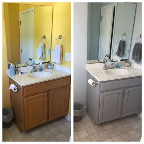 images about bathroom on pinterest vanities valspar and framing before and after bathroom cabinet valspar chalky paint in