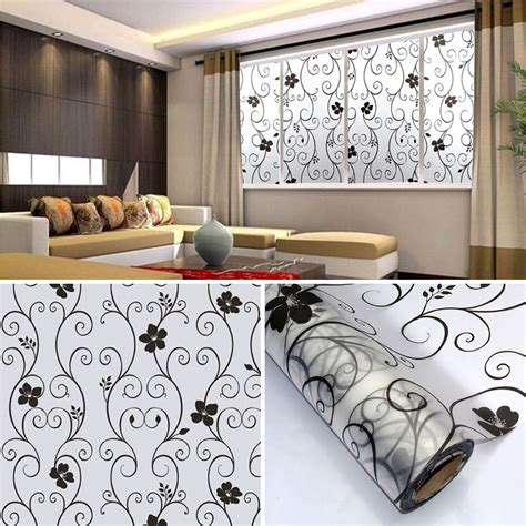 decorative window decals for home sweet 45x100cm frosted privacy cover glass window door