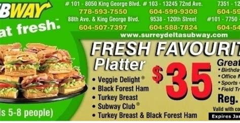 printable subway catering coupons subway catering coupons
