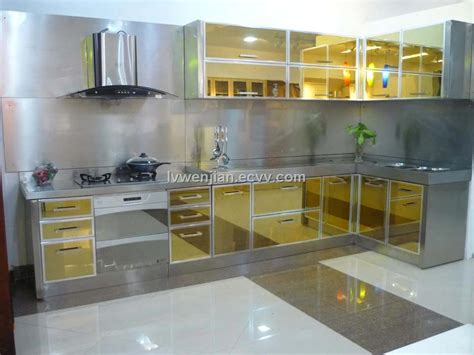 stainless metal kitchen cabinets 2016 steel kitchen