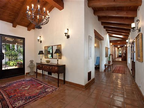 spanish home interiors spanish mediterranean hacienda style in santa barbara ca