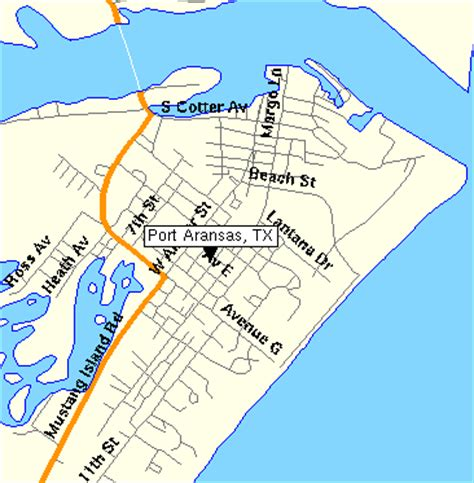 port aransas texas map port aransas map and information