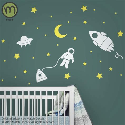 outer space wall stickers baby nursery wall decals wall stickers outer space w rocket