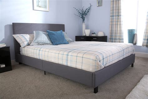 4ft small double fabric bed bed in a box 4ft small double fabric bed grey ebay