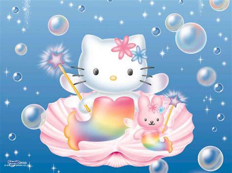 Hello Kitty Mermaid Wallpaper   bubbles hello kitty mermaid in a shell anime hello kitty