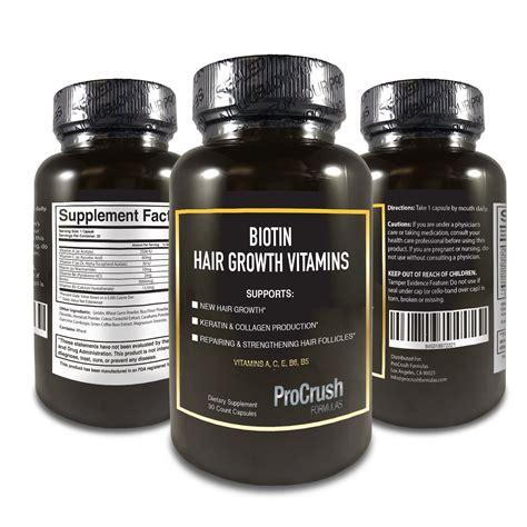 Vitamin Growfat Biotin Hair Growth Vitamins Stimulates Fuller Thicker
