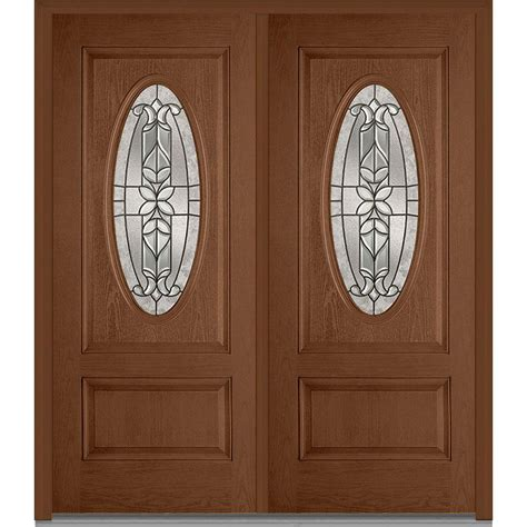 mmi door 74 in x 81 75 in classic clear glass 1 lite mmi door 74 in x 81 75 in cadence decorative glass 3 4
