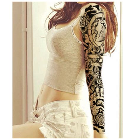 3pcs transferable tattoos for women men metallic tattoo