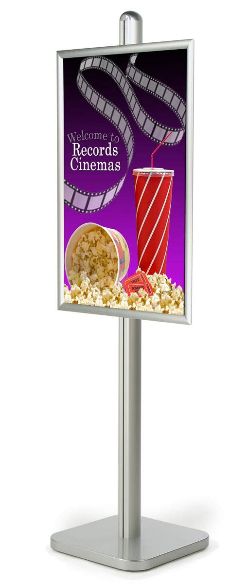 retail poster display 24 x 36 snap open stand w square base