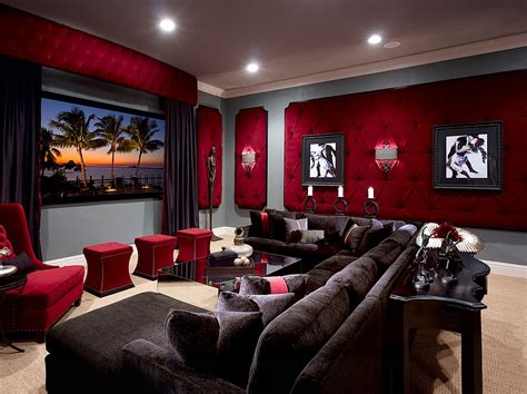 Home Theater Interiors 11 Trendy Rooms With Tufted Wall Panels