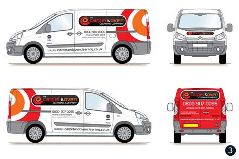 van graphics design van graphics vehicle livery design carpet oven cleaning co