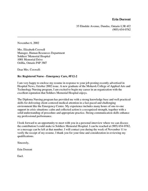 new nursing grad cover letter letter of recommendation
