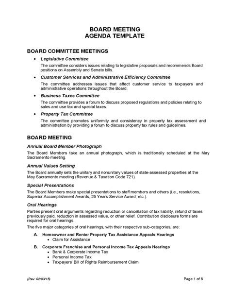 Board Meeting Agenda Template 7 Free Templates In Pdf Word Excel Download Board Meeting Template