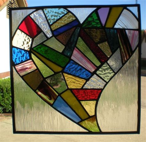 Honeysuckle Stained Glass And Patchwork - 248 best stained glass hearts images on fused