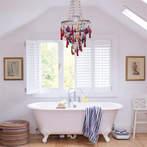 whimsy home decor whimsical chandelier in bath from house to home