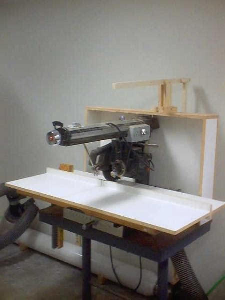 radial arm  dust collection finewoodworking