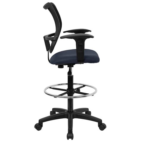 Office Desk Chairs Lumbar Support Office Desk Chair Mid Back Mesh Drafting Stool Swivel Lumbar Support Arms