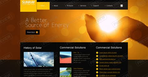 solar energy business web design ideas marketing