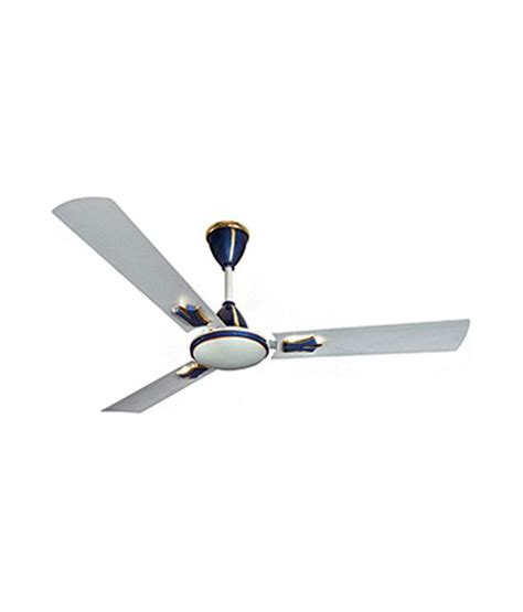 Discontinued Ceiling Fans by Crompton Greaves Flavia 1200 Mm Ceiling Fan Silver Blue