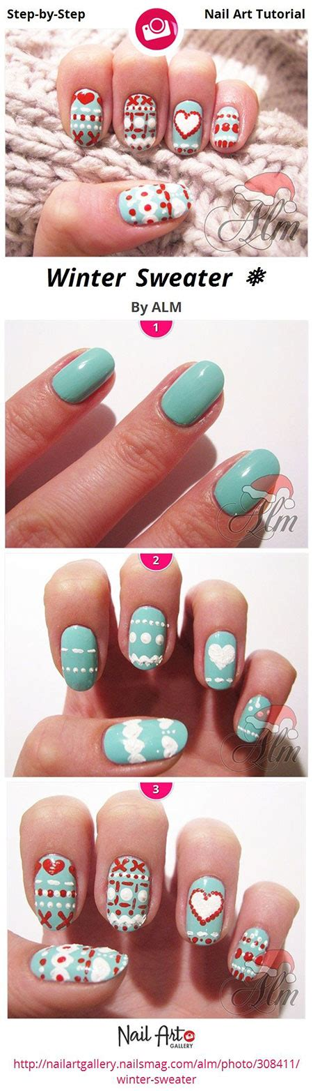 Nail Art Winter Tutorial | easy winter nail art tutorials 2013 2014 for beginners