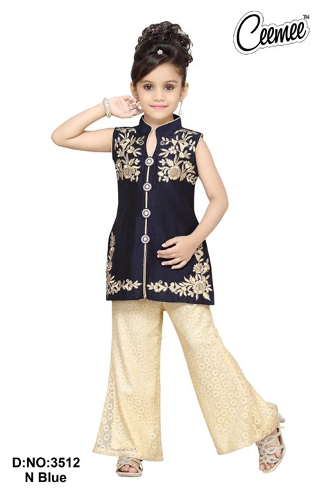 dress design with plazo new arrival beautiful designer girls dress buy patiyala
