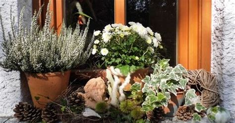 Herbstdeko Fensterbank Innen by Herbstdeko Auf Der Fensterbank Fensterschmuck Aussen