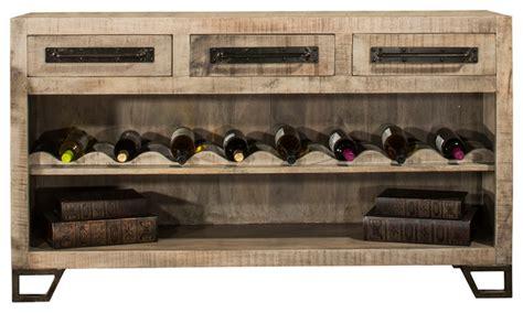 bridgewater sofa table with wine rack wood console