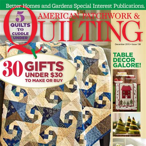 american patchwork quilting december 2015