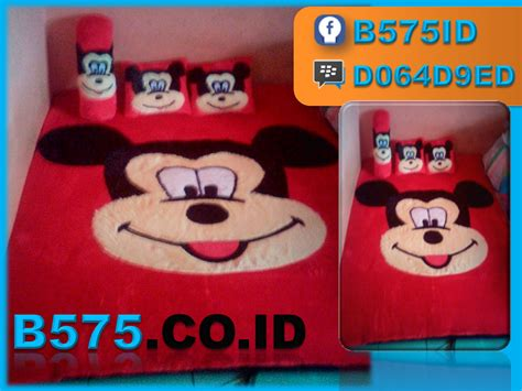 Karpet Bulu Mini karpet karakter kepala mickey mouse layanan bisnis b575 id